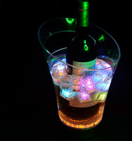 Wholesale 2013 Magical drop resistance LED light ice bucket champagne bucket Colorful LED bar Hotel dedicated ice bucket