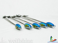 Wholesale HOT Pop s umbrella rig Fishing groups Blue amp Silver