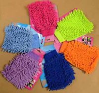 Wholesale Microfiber Chenille car Wash Glove car cleaning cloth table desk cleaning glove t5187