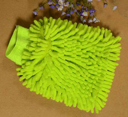 100шт микрофибры синель Автомойка перчатки Prvate Бытовая Ткань для очистки Односторонний Авто Митт По DHL