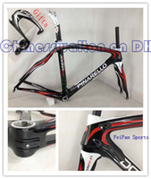 Wholesale New style DI2 Asymmetrical Pinarello Dogma Road Carbon Bicycle red black white bike Frame gift