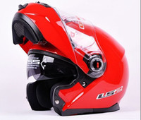 Wholesale LS2 FF386 helmet Dynamic Red Full Face armet undrape face Flip Up Dual Shield Sun Visor Motorcycle Helm