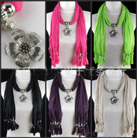 Cheap Beads pendant scarf Best Neck 180x45cm jewelry scarf