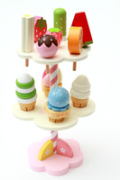 Wholesale New arrival wooden toy doll mother garden play house strawberry ice cream