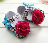 Wholesale 10 off With red big flower baby toddler shoes first walker shoes todddler shoes shoes sale discount shoes china shoes pairs