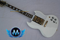 Solid Body 6 Strings Mahogany Free Shipping Alpine white sg mahogany 3 pickups electric guitar gold hardware A0016