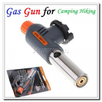 Wholesale High quality Portable Camping Welding Gas Torch Flame Gun Lighter for Camping Hiking Dropshipping