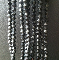 Wholesale New mm Crystal Black Faceted Glass Abacus Bead