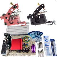 Beginner Kit beginner tattoo kit - Cheap Beginner Gun Kit Pro tattoo Machine Gun Power Supply Foot Pedal Needles D005P CY001