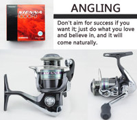 Cheap SIENNA 1000FD Road Asia spinning wheel fishing Fishing Reels Fishing Tackle 4 Bearings