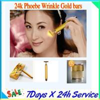 Wholesale Triangle Kshape energy facial massager K Facial Beauty Bar k Golden Pulse Facial Massager by dhl free