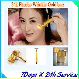 Wholesale Fashion portable vibration k gold beauty bar Beauty skin care for anti wrinkle