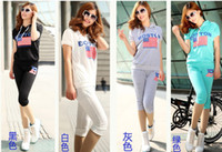 Wholesale 2014hot Korean Women leisure sports Hoodie set sports hoodie suit