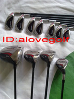 Wholesale 2013 original heads complete set of clubs RAZR EDGE golf clubs golf driver golf woods golf irons putter no bag