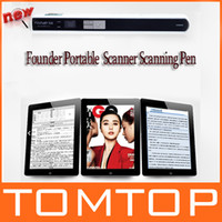 Wholesale Founder Portable Document Image Scanner Pen for iPad Mobile Office A4 DPI Handheld C1631