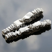 Wholesale 2pcs silver wedding bridal garters rhinestone Bride garters Wedding bridal Garter Sexy Lace Garter With Bow