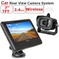 Wholesale 7 inch TFT LCD Monitor Wireless Car Rear View system With a Weather proof Wireless Rearview IR Camera