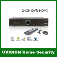 Wholesale 24CH H HDMI Port Surveillance CIF PTZ Realtime G WIFI Stand alone DVR Support Mobile Phone View