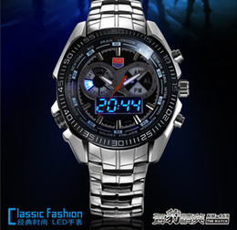 discount mens trendy sports watches 2016 mens trendy sports high quality stainless steel tvg trendy men s sport blue binary led pointer watch mens watches waterproof