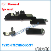 Cheap Battery Charger Dock Flex Cable WIFI Cover Shield for iPhone 4 EMI Shield Full Set Free Shipping