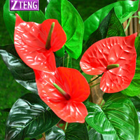 Cheap Anthurium artificial tree fake tree green plant home living room decoration bonsai