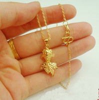 best goldfish - 10 OFF NEW Girls goldfish pendant gold necklace bride wedding necklace K gold plated fashion jewelry Wedding jewelry best gift