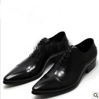 Men Loafers Flat Heel Leather Men's British business formal leather shoes leather shoes dfcv