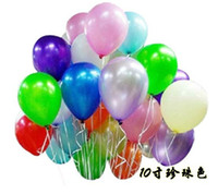 Wholesale Hot sales quot Latex Pearl bright Decorative Balloons For Wedding Birthday party