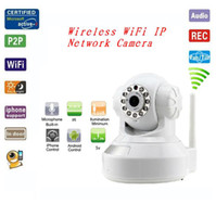 Wholesale Wireless WiFi Night Vision Audio IR Motion Detection Webcam IP Network Camera