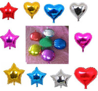 Multicolor aluminum foil board - Low Price balloons inch aluminum balloon light board monochrome foil balloon party wedding decoration