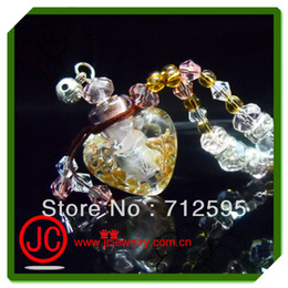 Wholesale Diffuser Aromatherapy Mini order essential oil bottle necklace perfume bottle pendant necklaces