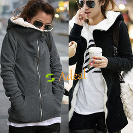Wholesale Fashion Women s Zip Up Tops Hoodie Cotton Outerwear Sweatshirt Adeal