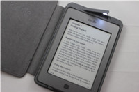 kindle 4 case - top quality LED Lighted Leather Kindle Cover for amazon kindle kindle case