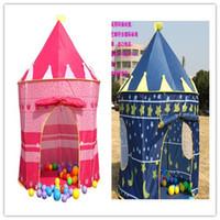 al por mayor animes de juguete-Príncipes Palacio Castillo de jugar de los niños de interior colores mezclados tienda del juguete al aire libre