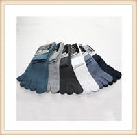Wholesale MEN S KNIT COTTON GETA TABI FIVE TOE SOCKS stockings Five Fingers Toe Socks Hosiery