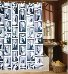 Wholesale European Marylin Monroe picture Flowers bathroom Shower Curtain Copper Buckle X180CM waterproof mouldproof t5192