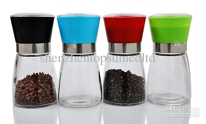 Pepper Grinder, Salt&pepper Mill, Operated by Hand, Glass Bottle ...