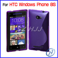 TPU For HTC  S Line Soft TPU Jelly Protective Cover for HTC Windows Phone 8S Flexible Back Shell Case