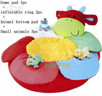 Wholesale Lowest Price Retair ELC Blossom Farm Clover Cow Sit Me Up Cosy Inflatable Ring Comfortable Cushion
