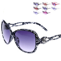 Wholesale EMS Shipping Color mix Fashion Sunglasses Women s Sunglasses Anti UV400 New Style Plastic Sunglasses