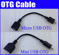 Wholesale Whole sale OTG Cable Micro USB Mini USB B Male to A Female tablet pc China post sample a cheap Hot Good quality