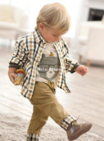 Wholesale Children Set Children s shirt child jeans three piece children s set boy clothe set