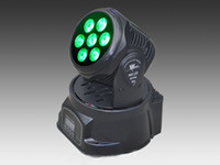 mini disco - Factory Price Freeshipping W IN1 RGBW MINI LED Moving Head Wash Light Wash Light LED Moving Head For Event Disco Party