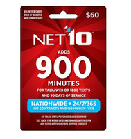 Wholesale Email Delivery NET10 Prepaid Card min for talk web or texts and days of service Top seller