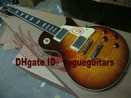 One Piece Neck Vintage Sunburst 1959 VOS Electric Guitar Free Shipping C91