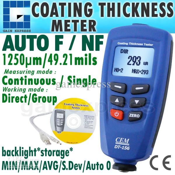 DT Digital Paint Coating Thickness Gauge Meter Tester Um - Paint tester online