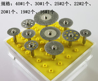 Wholesale set Diamond grinding cutting discs grinder heads for Dremel Rotary Tools