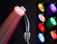 Wholesale LED Shower Colorful the flicker shower light shower colorful shower LED showerhead Bathroom Shower Set L0001
