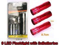 Freeshipping 9 Led Flashlight Portable Mini Aluminium LED To...