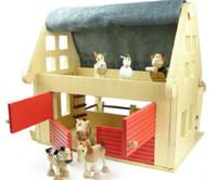 Wholesale retail Australia Anamalz the doll farm organic maple animal room wooden house with six animals dolls